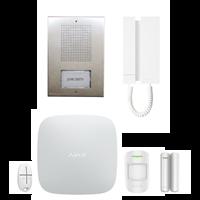 Kit Áudio 5 Fios KAE5061 + Kit HUB AJAX WHITE