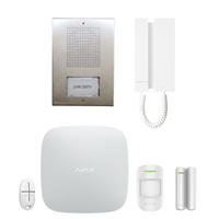 Kit Áudio 2 Fios KAE0061+ Kit 1 HUB WHITE AJAX