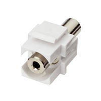 Excel 3.5mm Audio Input Keystone Adaptor White