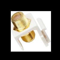 EXCEL 1 Port F Type Sat Coax Keystone Adaptor