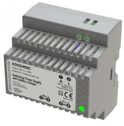 Fonte 5 Din 24V2A c/Carregador Bateria