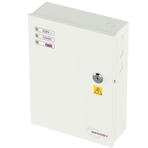 Fonte em Caixa 12V 5A Permite 1 Bateria 12V 7A