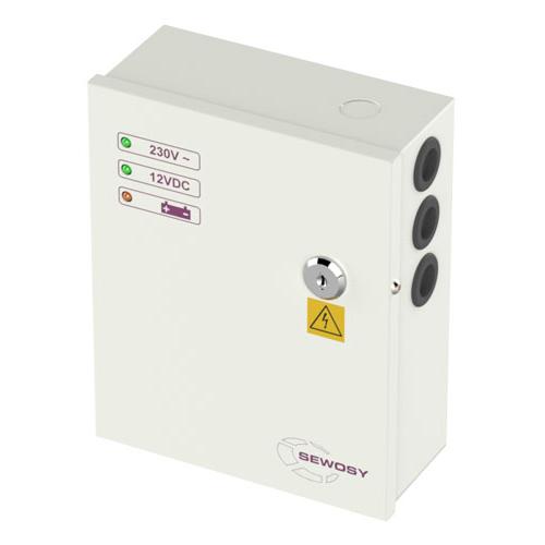 Fonte em Caixa 24V 2.5A Permite 2 Baterias 7A