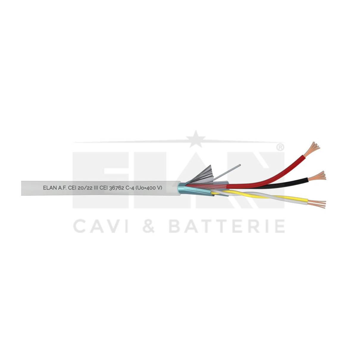 035221 Cabo PORTEIRO PVC 2 x 0,5 DIR + 2 x 0,22 Tw ELAN