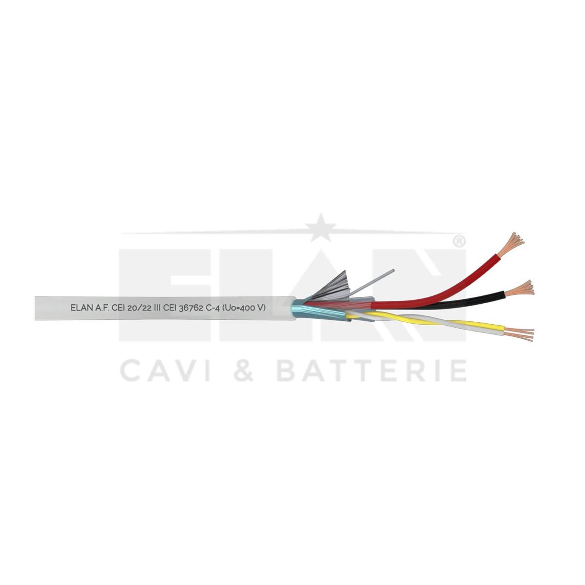 037251 Cabo PORTEIRO PVC 2x0.75 DIR+2X0.50 ELAN