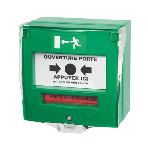 Botoneira Verde p/Controlo Acessos