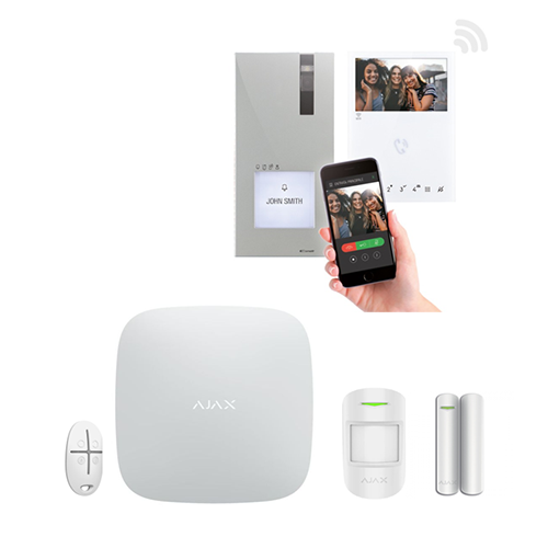 Kit Quadra Mini Wi-Fi COMELIT + Kit 1 AJAX