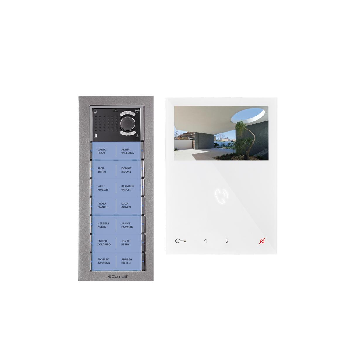 Kit Video 2 Fios Alta Voz - 15 Apartamentos