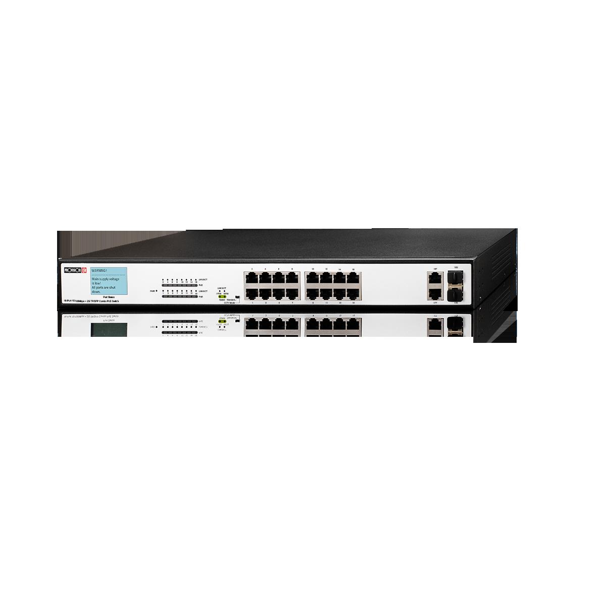 Switch 10/100  16+2 PROVISION