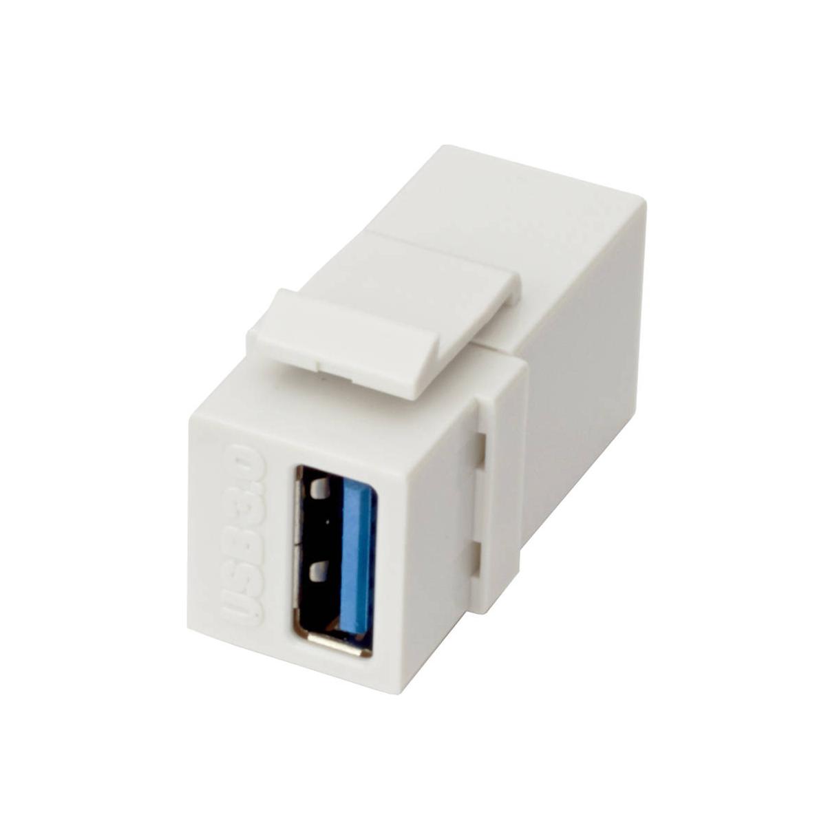 Excel 1PT USB 3.0 Keystone Adaptor White
