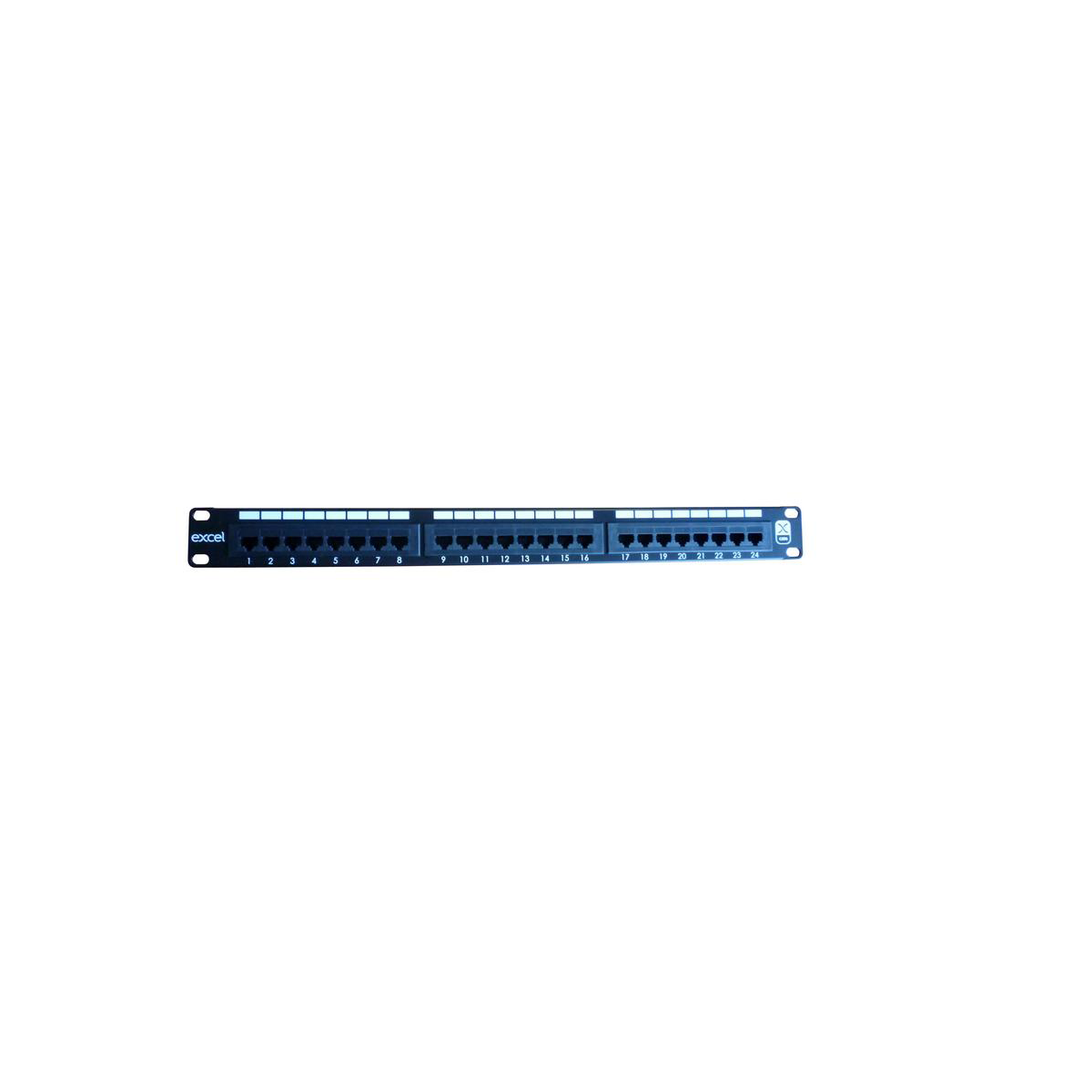 Excel CAT6 24 Port 1U Patch Panel Preto