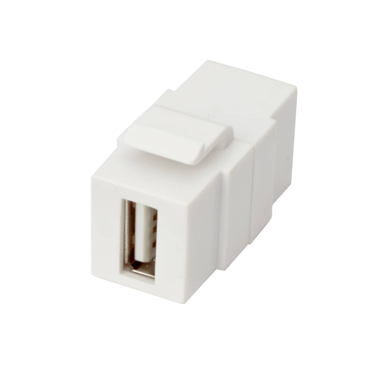Excel 1 Port USB 2.0 Keystone Adaptor White