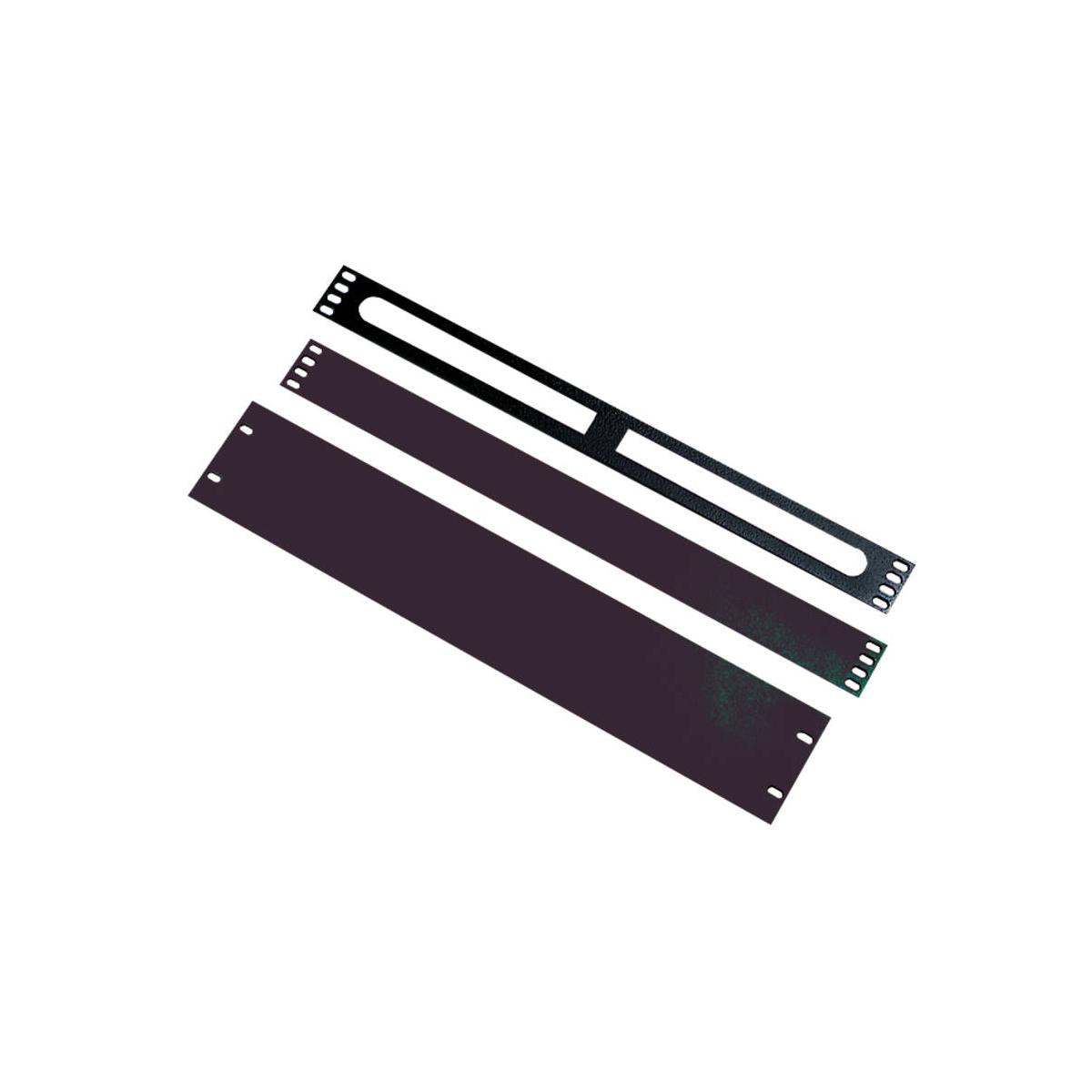 Excel 3U Blank Plate Black