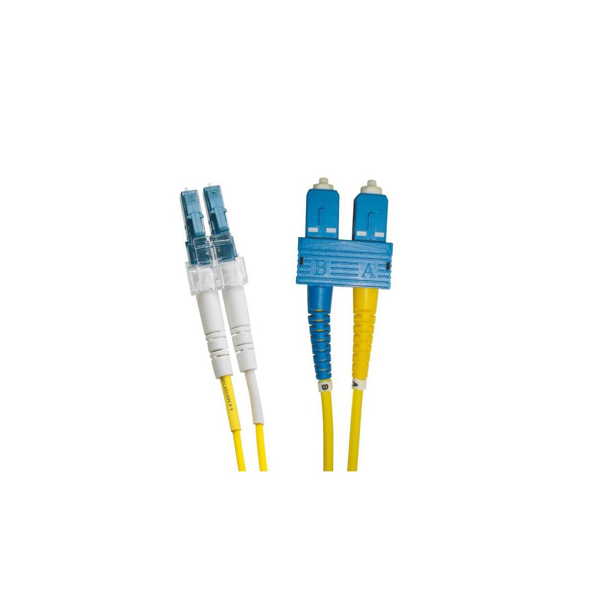 EXCEL OS2 15M LC-SC DUPLEX P/LEAD 9/125