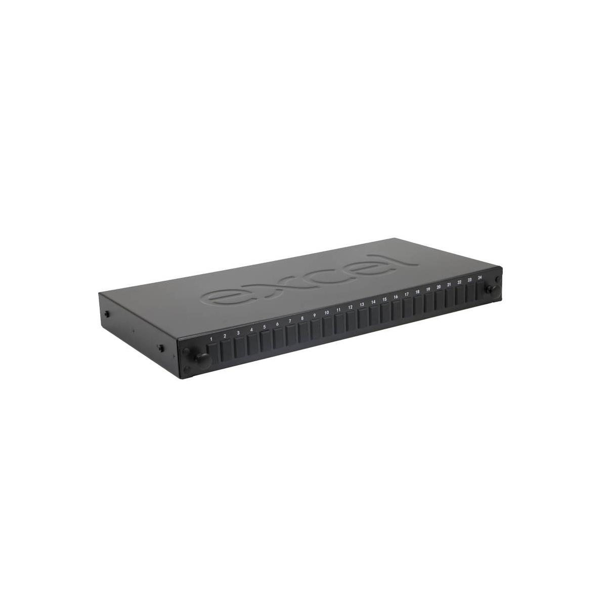 Painel Vazio fibra EXCEL 24 WAY SC SX/LC DX