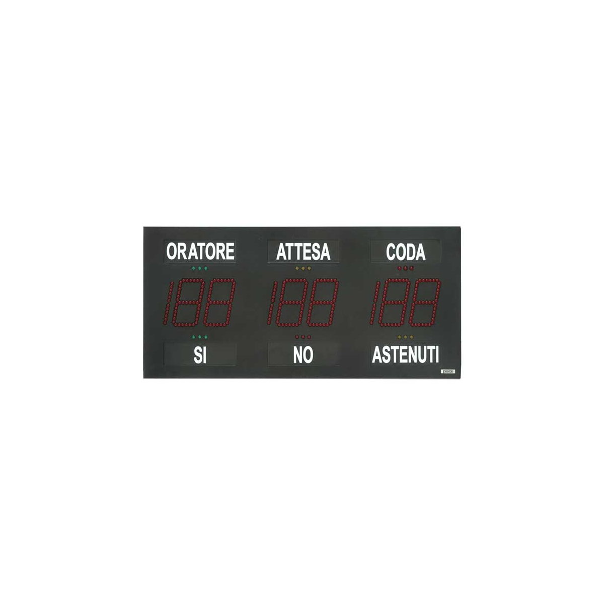 Placa alfanumérica para contagem de votos