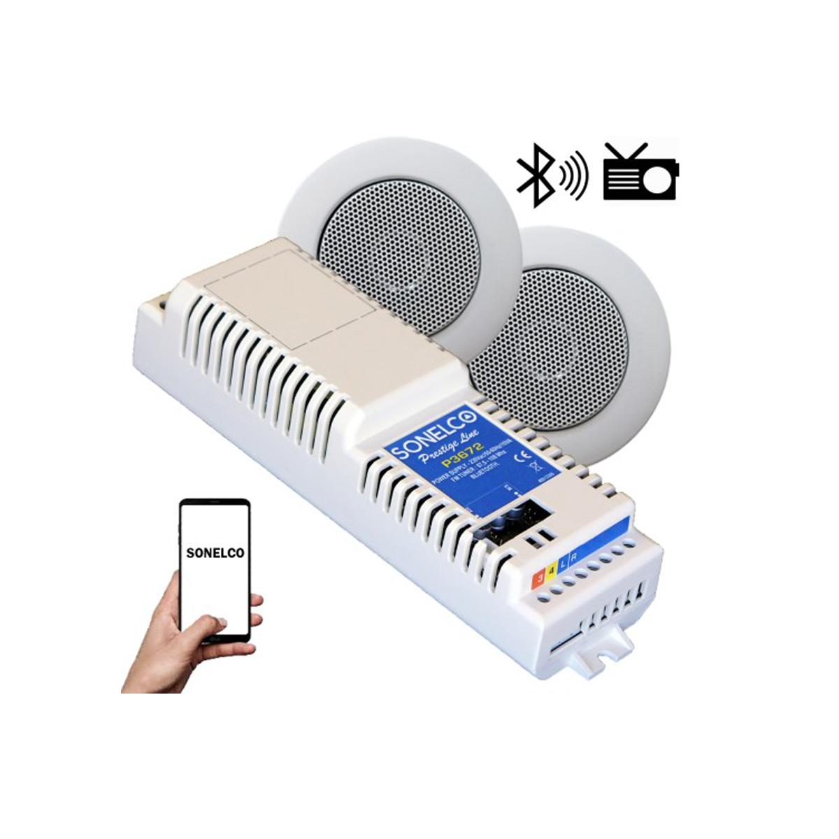 Kit som Bluetooth, FM, Aplificador 2 colunas
