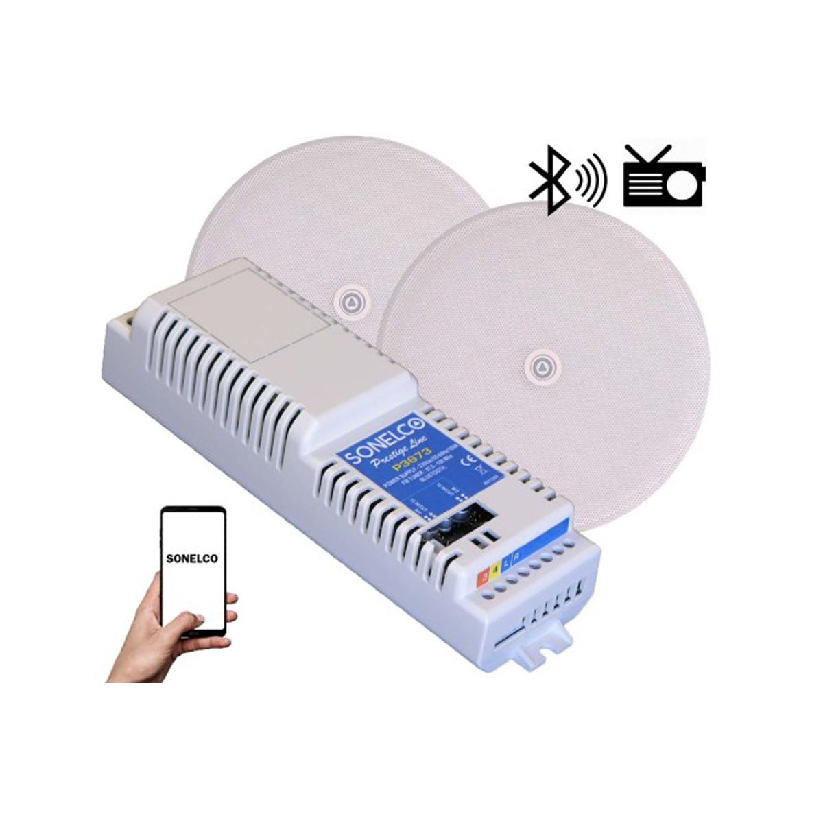 Kit som Bluetooth, FM, Aplificador ,AUX, 2 colunas